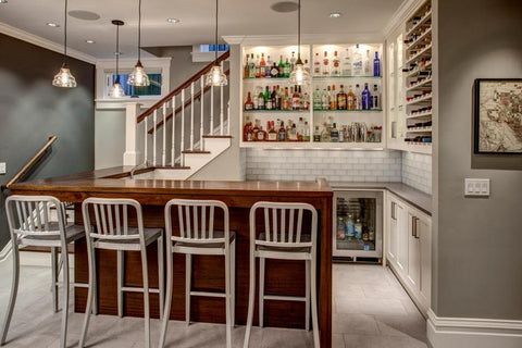 TOP TRENDS IN BASEMENT WET BAR DESIGN The Original Granite Bracket Simple Basement Wet Bar Design