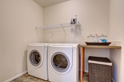 laundry room with wire rack ad counter space