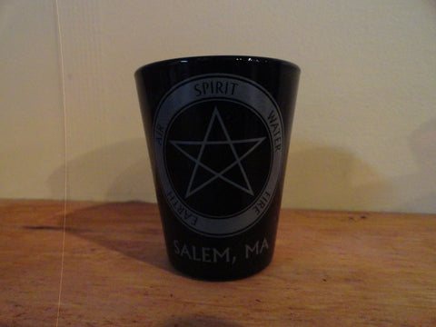 Black Pentacle Shot Glass