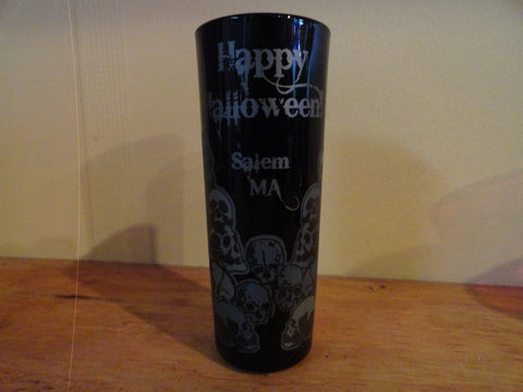 "Black ""Happy Halloween"" Skull Shooter"