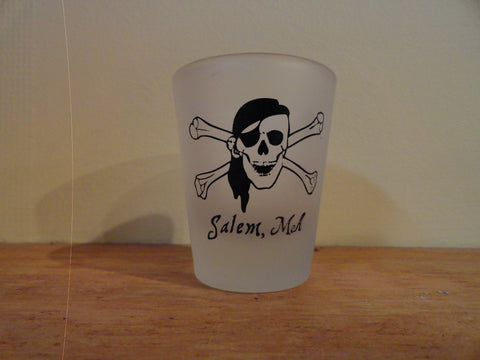 Frosted Pirate Shot Glass