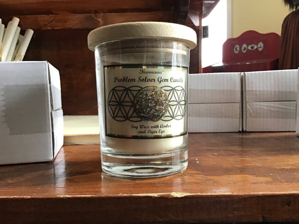 Prosperity gem candle