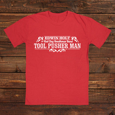 Tool Pusher Man T-Shirt Red