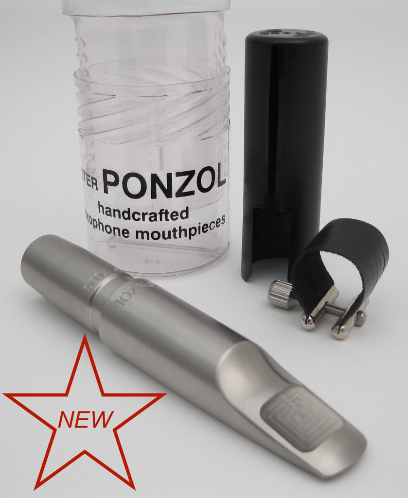 Ponzol Stainless Steel 110 Plus Baritone Saxophone Mouthpiece