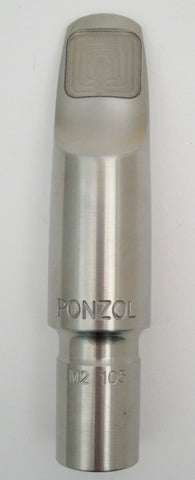 Ponzol M2 Stainless Steel Tenor Saxophone Mouthpiece