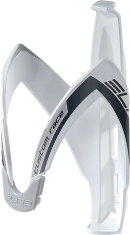 Elite Custom Race Water Bottle Cage: White/Black