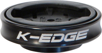 K-EDGE Gravity Cap Stem Mount for Garmin Quarter Turn Type Computers, Black