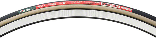 Vittoria Pista EVO CL 70 0x19c Track only Tubular Black/ Tan