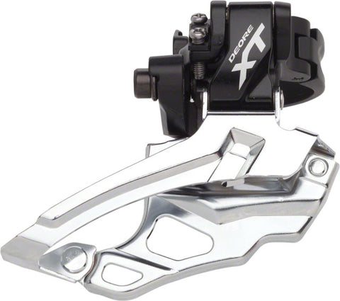 Shimano XT M786 2x10-Speed Traditional Dual-Pull Multi-clamp Front Derailleur