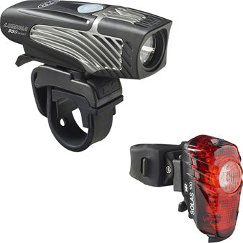 NiteRider Lumina 950 Boost Headlight and Solas 100 Taillight Combo