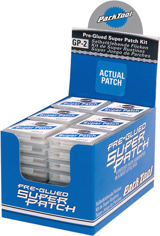Park Tool Glueless Patch Kit: Display Box with 48 Individual Kits