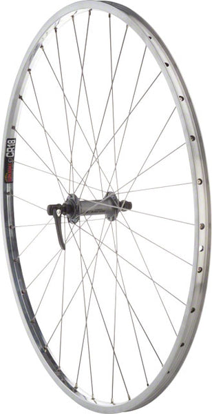 "Quality Wheels Value Series 2 Road Front Wheel 27"" Shimano 2400 Silver / Sun CR18 Polished"