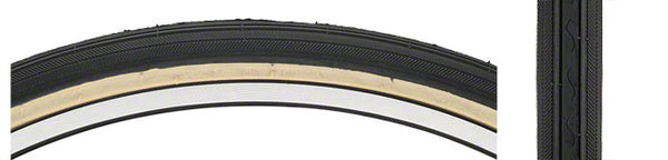Kenda Street K40 Road Tire 26x1 3/8 Black/Tan Steel 30 TPI