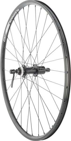 "Quality Wheels Rear Wheel Rim and Disc Convenience 26"" 32h Shimano TX505 / Alex DC19 / DT Factory Black"