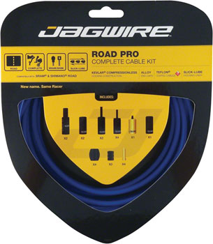 Jagwire Racer Complete Road Brake & Derailleur DIY Kit, SID Blue