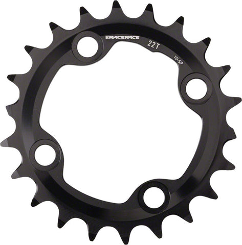 Race Face Turbine 10-Speed Chainring, 22t x 64mm Black