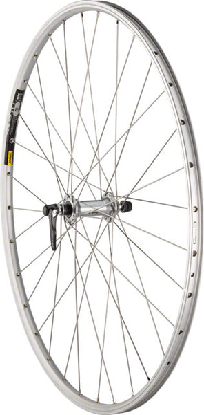 Quality Wheels Road Front Wheel 700c 32h 100mm QR Shimano 105 5800 / Mavic Open Elite / DT Champion All Silver