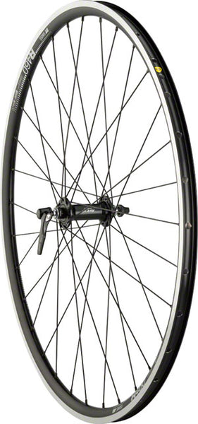 Quality Wheels Road Front Wheel Rim Brake 700c 32h 100mm QR Shimano 105 5800 / DT R460 / DT Champion All Black