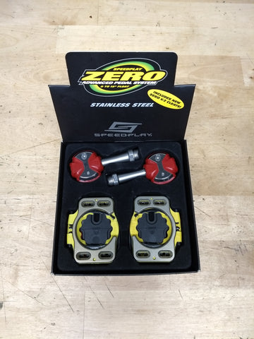 Speedplay Zero Pedals SS Red 59mm spindle