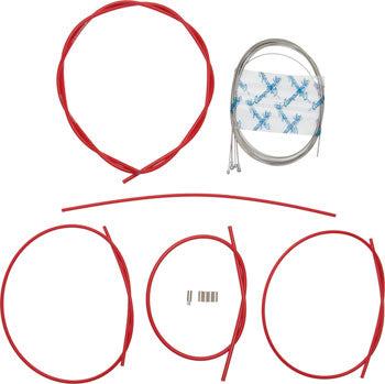 Campagnolo Ultra Low Friction Brake & Derailleur Cable & Housing Sets Red