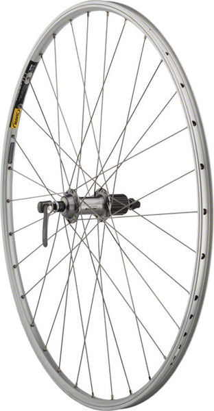 Quality Wheels Road Rear Wheel 700c 32h Shimano 105 5700 / Mavic Open Sport / DT Champion All Silver