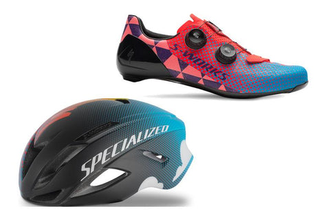 S-WORKS EVADE II AND 7 SHOE RED HOOK CRIT PACKAGE!