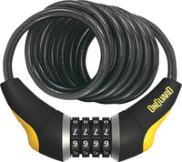 OnGuard Doberman Combo Cable Lock: 6' x 10mm, Gray/Black/Yellow