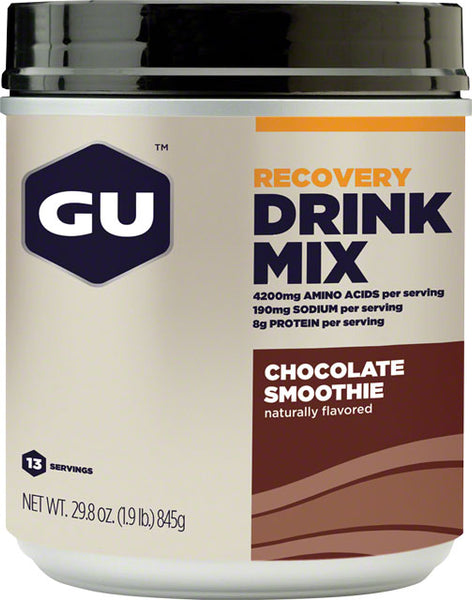 GU Recovery Brew Drink Mix: Chocolate, 15 Serving Canister