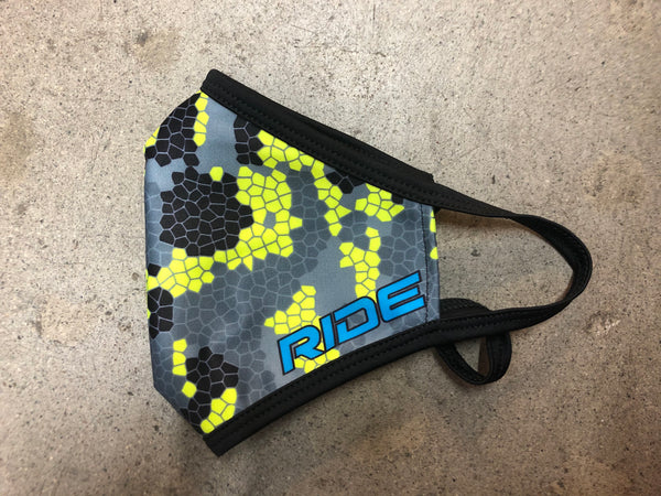 COVID-19 RIDE Mask (Buy One - Donate One) Gray/Yellow Large