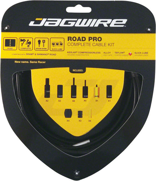 Jagwire Racer Complete Road Brake & Derailleur DIY Kit, Black