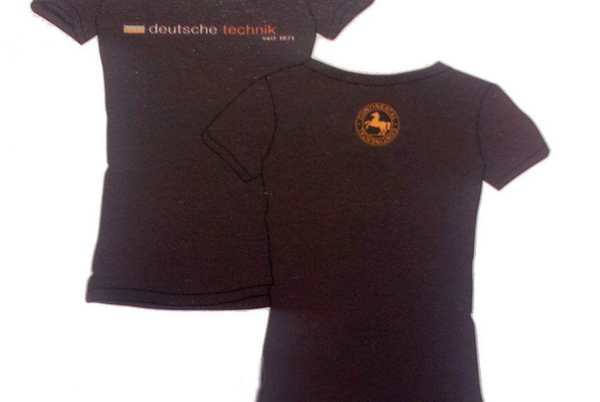 Mens Deutsche Technik TShirt Large Brown