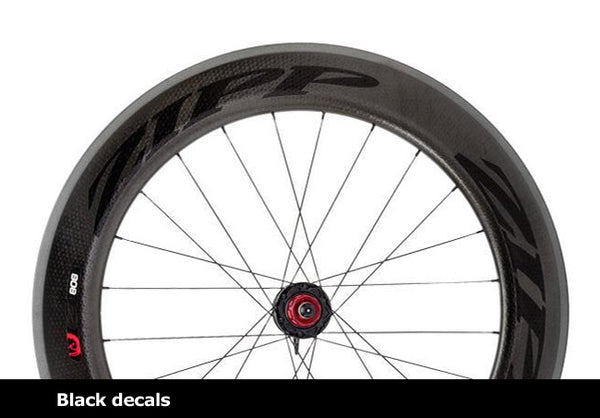 808 Firecrest Carbon Clincher Rear 24 spokes 10/11 Speed SRAM Cassette Body Black Decal wheel
