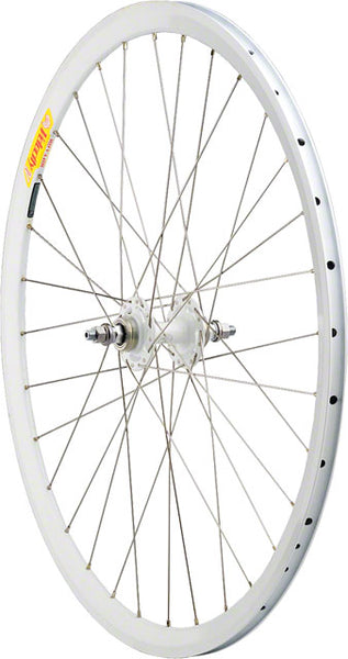 Quality Wheels Track Rear Wheel 700c 32h All-City Fixed/Fixed White / Velocity Deep V White / DT Competition Silver