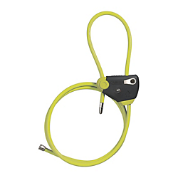 Cable Lock Multiloop 210 Lime 185cm Length
