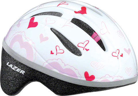 Lazer BOB Infant Helmet: White with Hearts one size