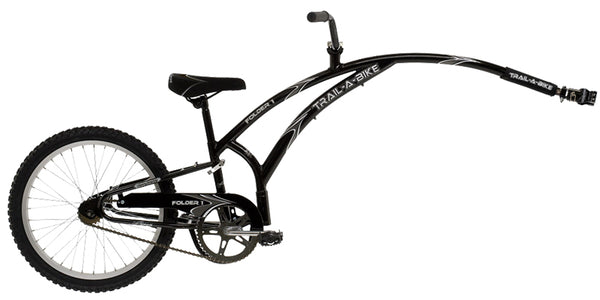 Adams Trail A-Bike Folder 1 Child Trailer: Black