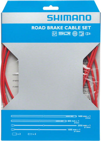 Shimano Road PTFE Brake Cable and Housing Set, Red