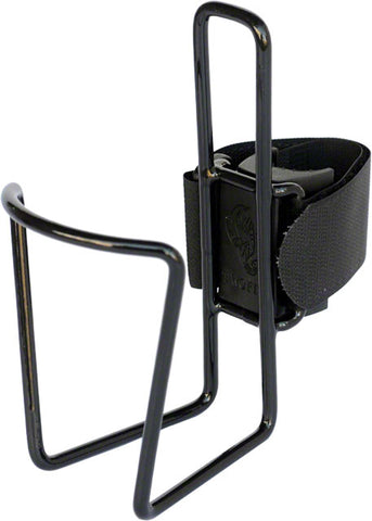 TwoFish QuickCage 24oz Water Bottle Cage: Vinyl Coated Black, No Bottle Included