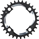 Chainring X-Sync 94BCD Alum 5mm Black w CNC Silver 11 speed
