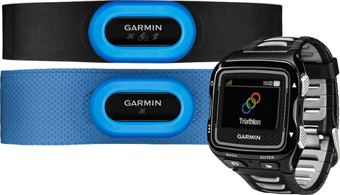 Garmin GPS Running Watch Forerunner 920XT Tri Bundle, Black And Silver