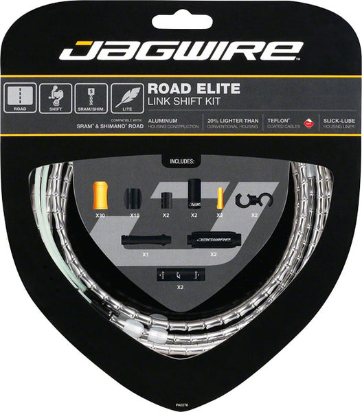 Jagwire Road Elite Link Shift Cable Kit, Silver