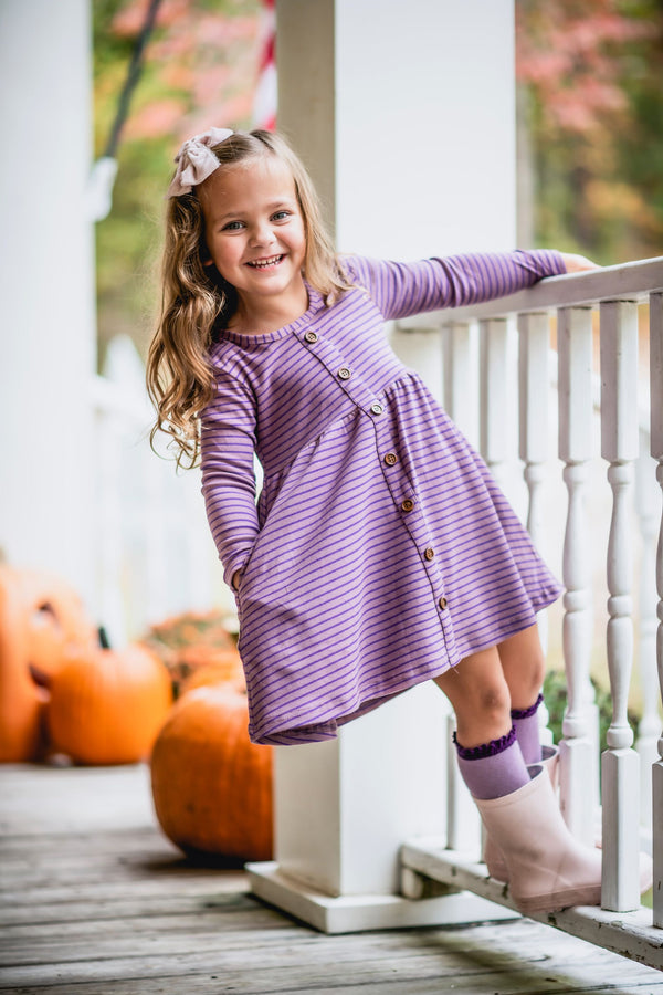 Grape Stripe Dress