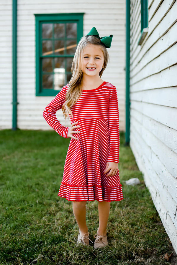Candy Cane Stripe Dress