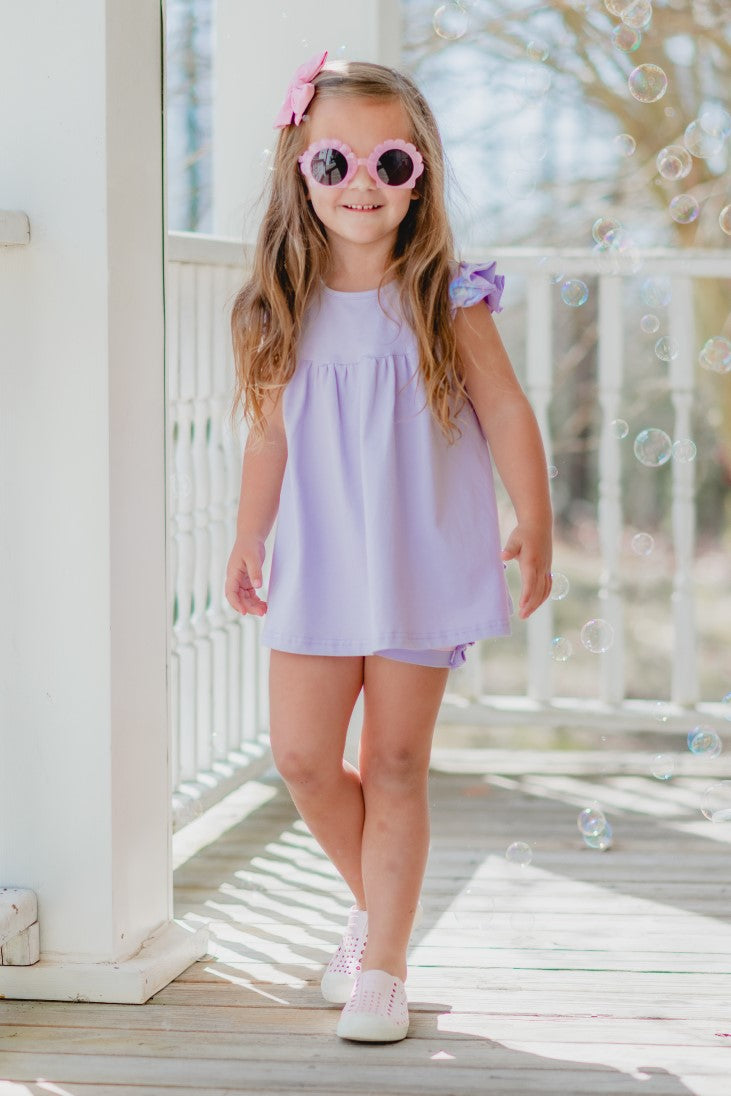 Pearl Tunic - Lilac - Madison Grace Clothing