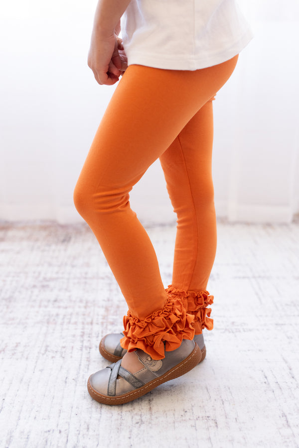 Ruffle Leggings - Pumpkin