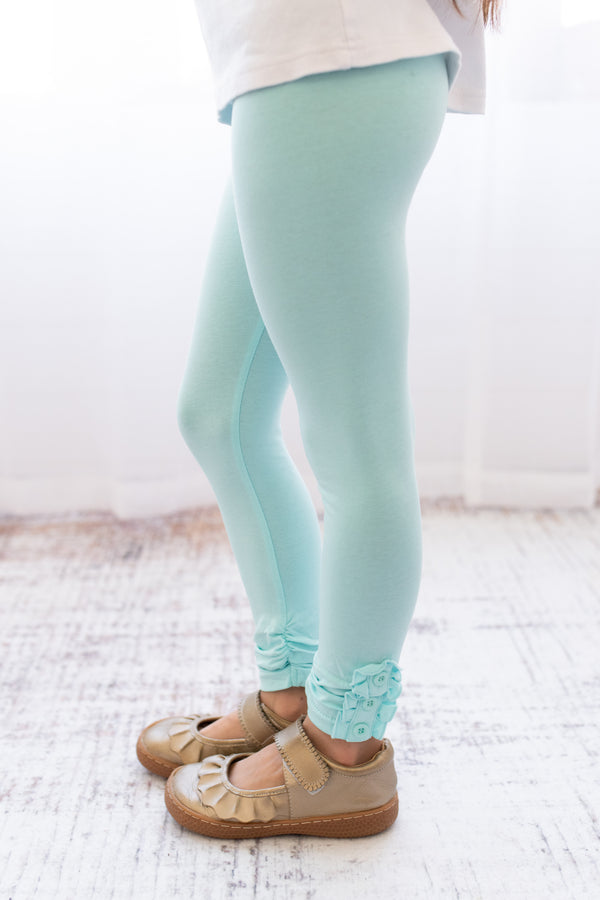 Brooke Leggings - Aqua