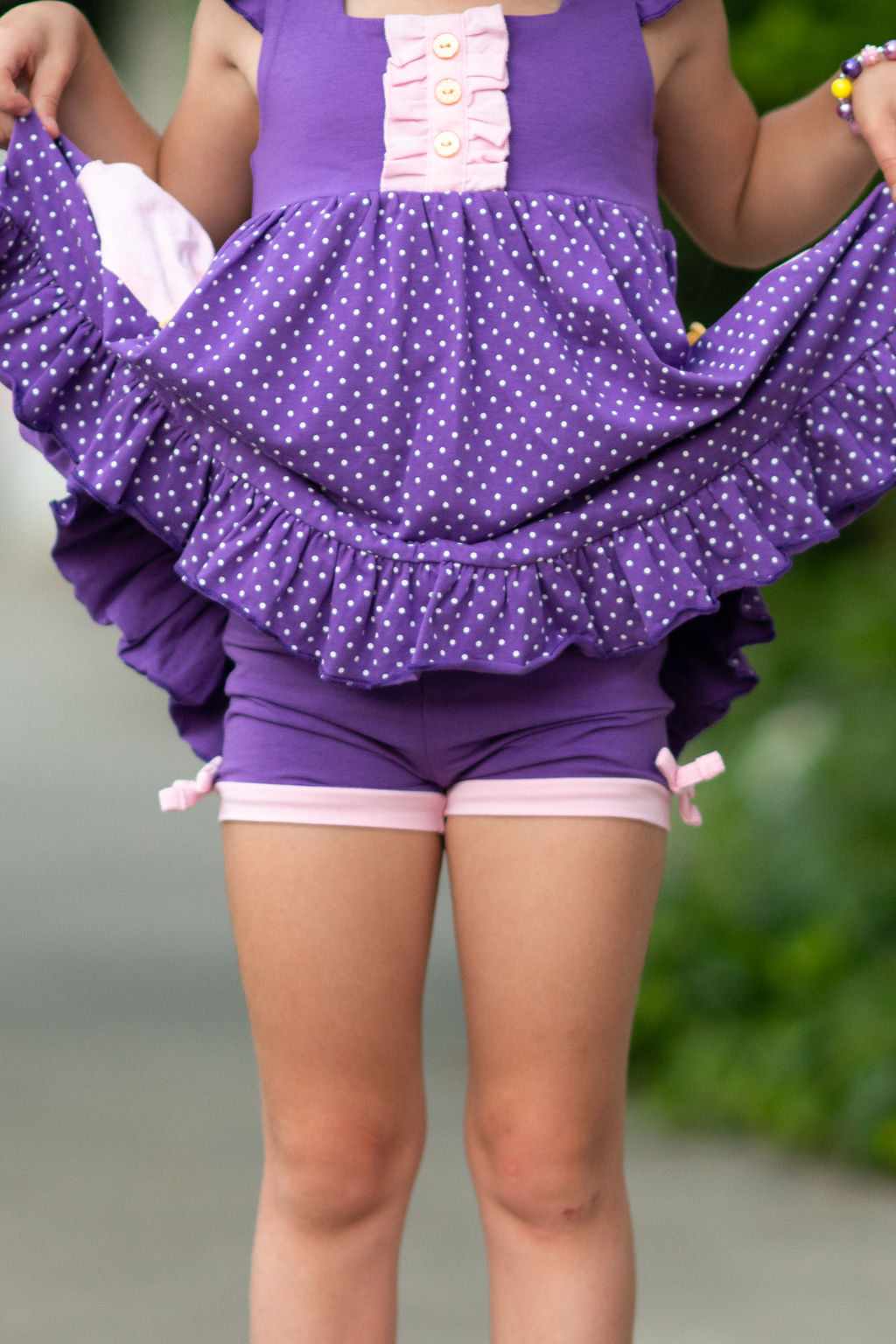 Rapunzel Inspired Simple Shorties - Madison Grace Clothing