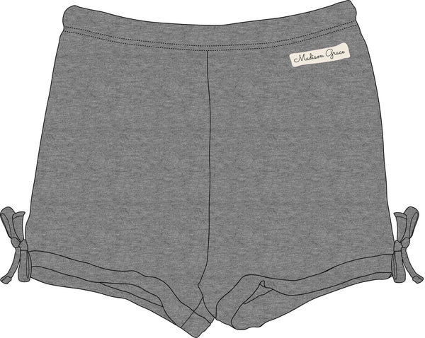 Simple Shorties - T-shirt Gray - Madison Grace Clothing
