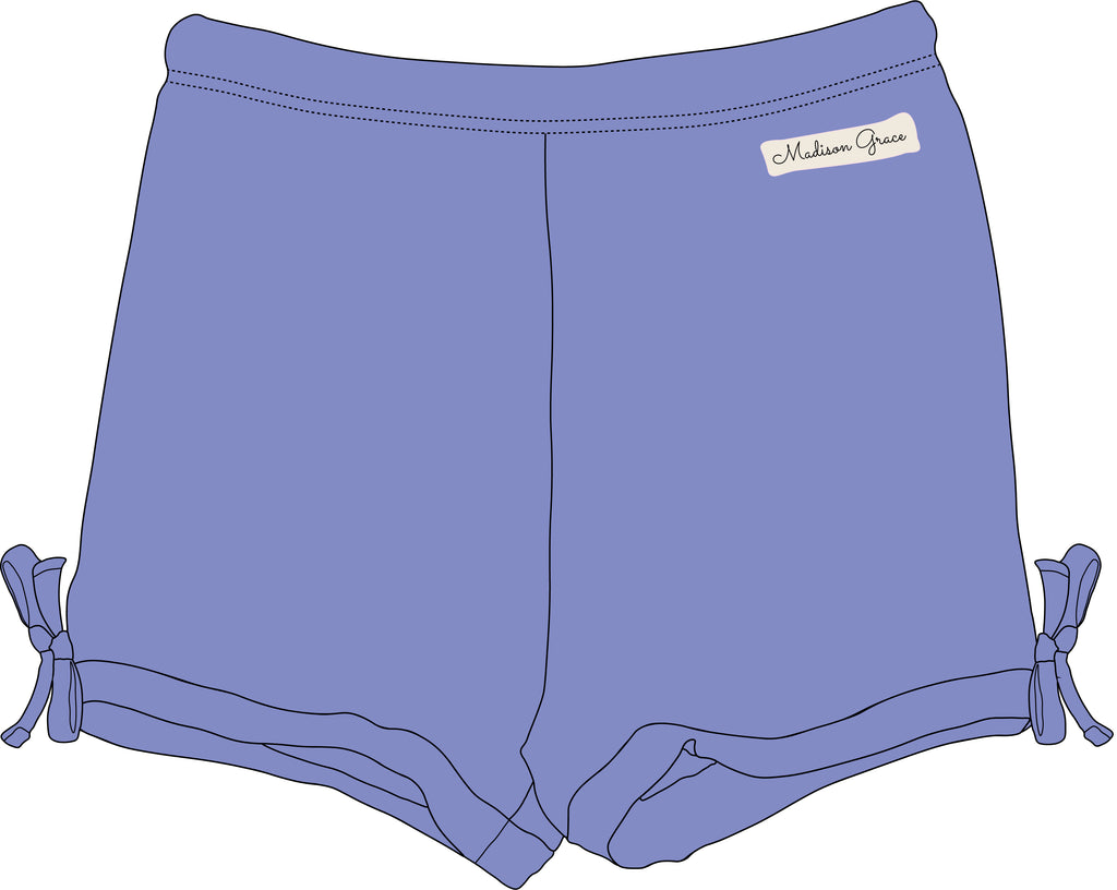 Simple Shorties - Periwinkle - Madison Grace Clothing