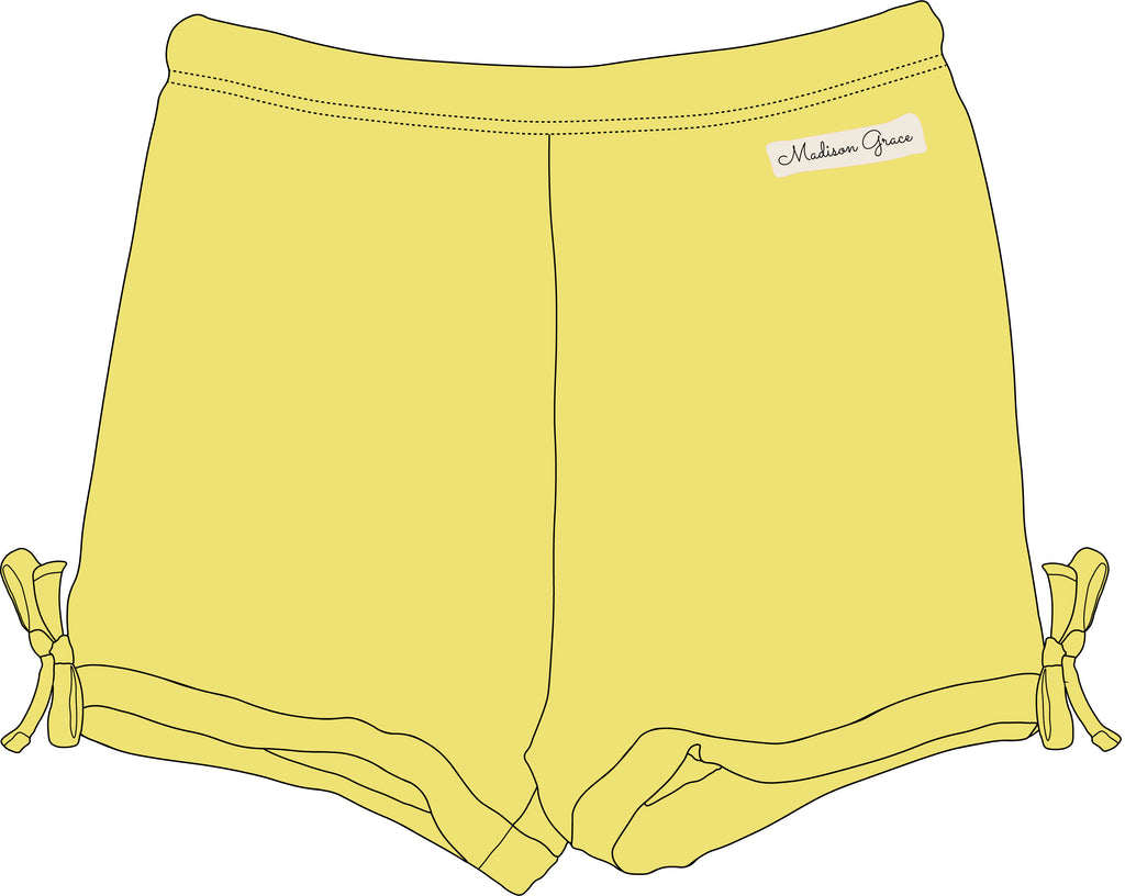 Simple Shorties - Yellow - Madison Grace Clothing
